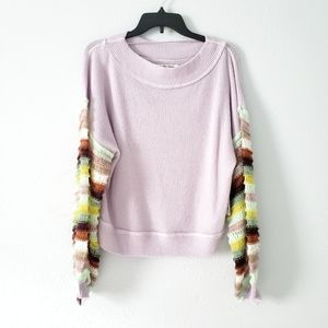 Free People Sweater with Knitted Oversized Sleeves